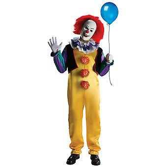 Pennywise det film Deluxe skräck Clown Halloween männen kostym