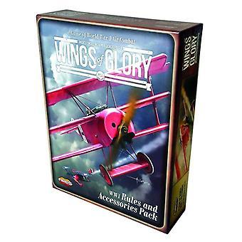Wings of Glory WWI Regeln und Zubehör Pack Brett Spiel 2 + Spieler