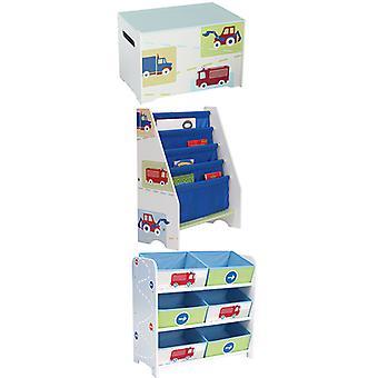 Vehicles Bedroom Furniture Storage Set