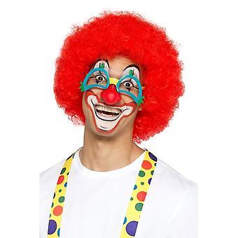Komedie clown specs met rubberen neus, grappen/nieuwigheid/fancy dress
