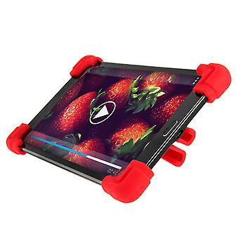 """Universal shock absorbing case for 9.7""""– 12"""" Tablets, with kickstand – Red"""