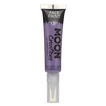 Face & Body Paint with Brush Applicator by Moon Creations - 15ml - Purple