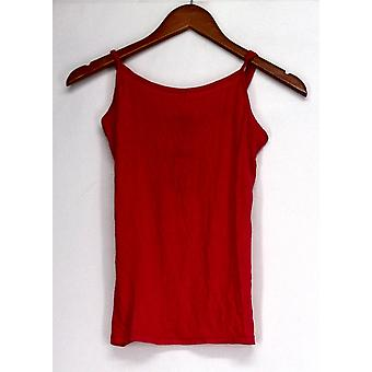 Agaiato Top Sleeveless Adjustable Straps Camisole Tomato Red Womens