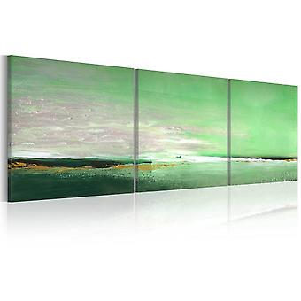 Artgeist Handmade Painting Sea Green Coast (Decoration , Pictures and frames , Canvases)
