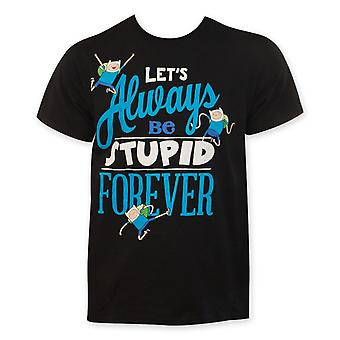 Adventure Time laten we altijd dom Forever Tee Shirt