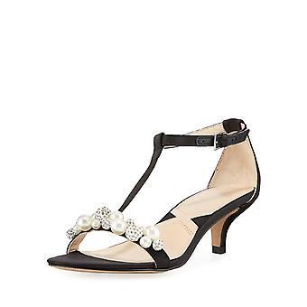 Adrienne Vittadini Womens Kalina Open Toe ocasião especial T-Strap Sandals
