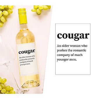 Cougar Wine Bottle Label