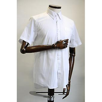 Merc London Baxter White Short-Sleeved Shirt