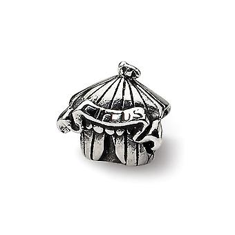 925 Sterling Silver Polished finish Reflections Kids Circus Tent Bead Charm Pendant Necklace Jewelry Gifts for Women