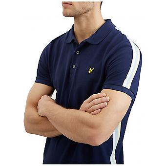 Lyle & Scott Polo a righe laterali-Navy