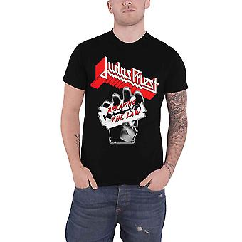 Judas Priest T Shirt Breaking The Law Razor Band Logo new Official Mens Black