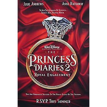 Prinsessan Diaries 2 (dubbelsidig Advance) original Cinema affisch