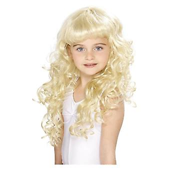 Meisjes Childrens prinses pruik Fancy Dress accessoire