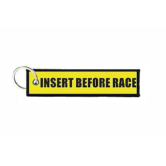 Porte cles aviation keychain moto voiture motard before race r4
