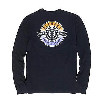 Element Medallian Long Sleeve T-Shirt en noir Flint