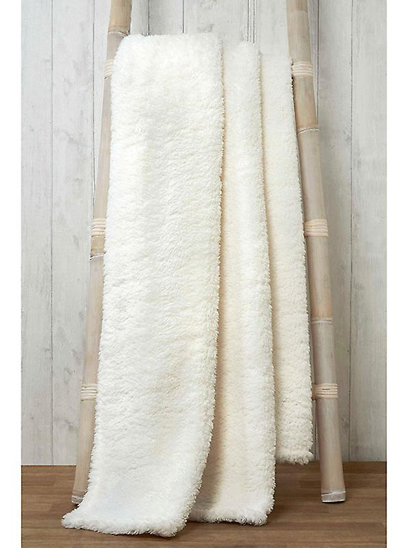 Snuggle Bedding Teddy Fleece Blanket Throw 130cm x 180cm - Natural