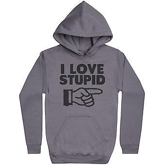 I Love Stupid - Womens Hoodie