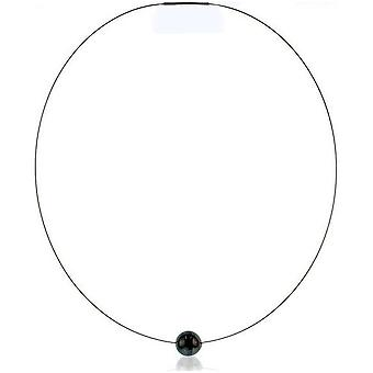Luna-Pearls Beads Choker Tahitiperle 11-12 mm Steel 3001234