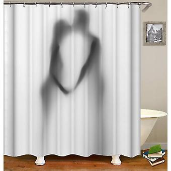 Küssen paar Schatten Dusche Vorhang