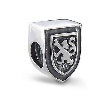Skót oroszlán burjánzó Shield Shape emlékbe gyöngy Charm