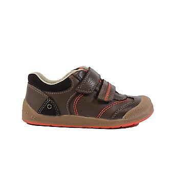 Startrite Tough Bug Brown Leather Boys Rip Tape Flexible First Shoe