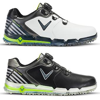 Callaway Golf Mens Xfer Fusion Boa Opti-Soft Ortholite Leather Golf Shoes