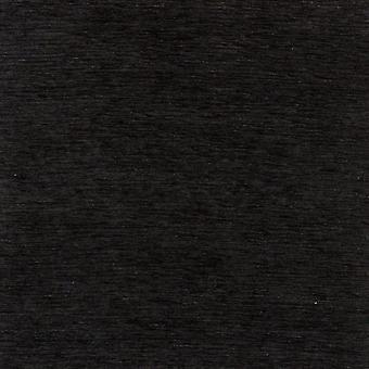 Mcalister textiles tissu noir chenille plaine