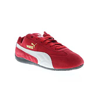 Puma Speed Cat mens röd mocka spetsar upp Athletic racing skor