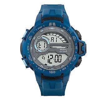 Tekday 655916 Watch - Digital Multifunction Silicone Blue Men's Tint