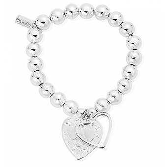 ChloBo SBMB028042 женский средний шар открытый и украшенный браслет сердца