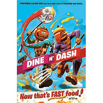 Fortnite Dine N Dash Poster