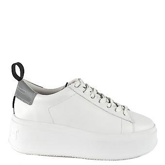 Ash Footwear Moon White And Grey Platform Trainer