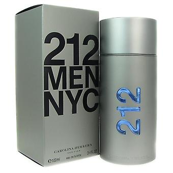 212 carolina herrera for men 3.4 oz 100 ml eau de toilette spray