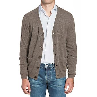 Fitted cut wool cardigan