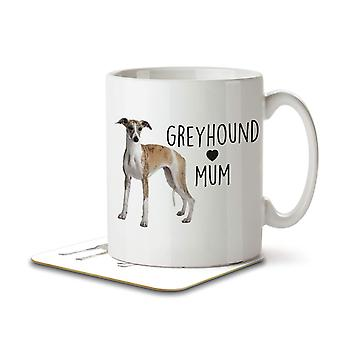 Greyhound Mum - Mug and Coaster