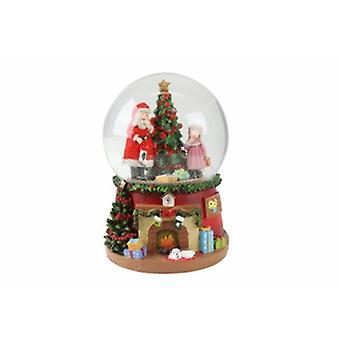 Gisela Graham Santa with Tree Musical Snow Dome
