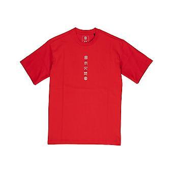 Element Yuki korte mouw T-shirt in Fire Red