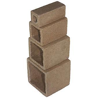 Ica Set 4 Cubes-Decorative Caves (Fish , Decoration , Rocks & Caves)