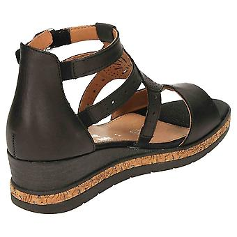 Remonte Wedge Heel Platform Gladiator Sandals D3053-01 Open Toe