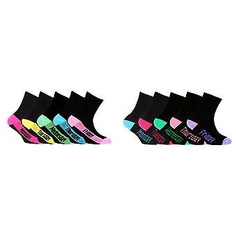 Kinder Mädchen Cotton Rich Tage der Woche Socken (5er Pack)