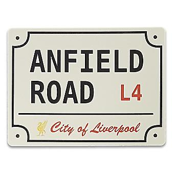 Placa de metal Anfield road liverpool - 20x15 cm Man cave