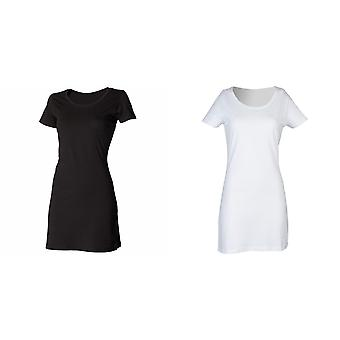 Skinni Fit Ladies/Womens Scoop Neck T-Shirt Dress