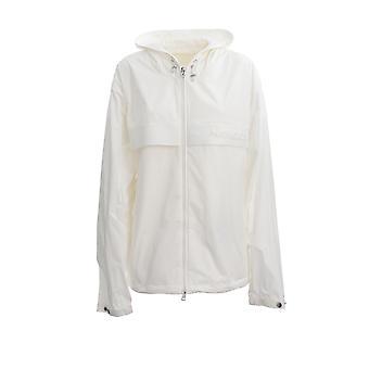 Moncler 1a7084054a91034 Men's White Nylon Outerwear Jacket