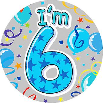 Expression Factory Childrens Boys I Am 6 Today Giant Badge