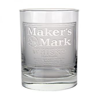 Verre De roches gravés de marque De l'apos;s Mark Whisky Label