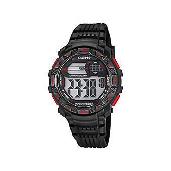 Color plástico, de reloj, hombre, de K5702, 5-muñeca de Calypso: negro