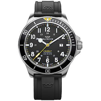Combat Analog Men's Automatic Watch with Silicone Bracelet GL0274