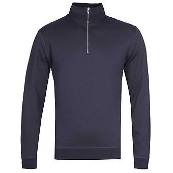 Norse Projects Fjord Coolmax Half-Zip Navy Sweatshirt