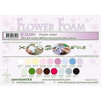 Feuilles de mousse de fleur de Leane Creatief A4 Pastel Violet