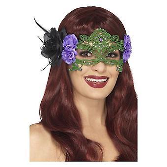 Bestickter Spitze filigrane Hexe Eyemask
